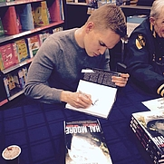 Author photo. Book signing with LT GEN Hal Moore and Mike Guardia at the Books-A-Million in Opelika, AL
