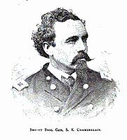 Author photo. Brevet Brigadier General Samuel E. Chamberlain by James L. Bowen