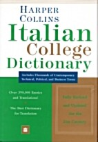 Harper Collins Italian College Dictionary by…