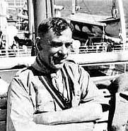 Author photo. Percy Winn Everett on board Orduña for the 1938 Peace Cruise.