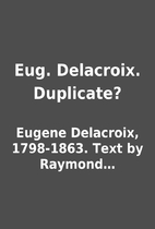 Eug. Delacroix. Duplicate? by Eugene…