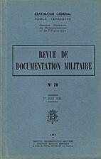 Revue de documentation militaire n°70, 1er…