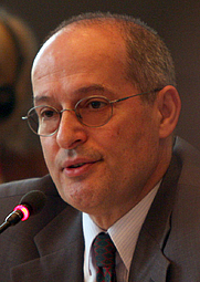 Author photo. Miklos Haraszti, the OSCE Representative on Freedom of the Media, at the Permanent Council in Vienna, 3 July 2008 [credit: Mikhail Evstafiev]