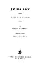 Swing Low: Black Men Writing by Rebecca…