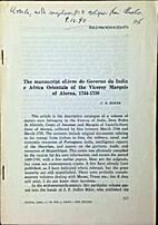 The manuscript Livro do Governo da Índia e…