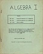 Algebra 1 - Volume II by Dr. C. D. H. Cooper