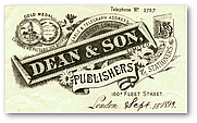 Author photo. Dean & Son letterhead circa 1893