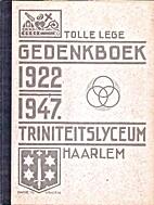 Gedenkboek Triniteitslyceum Haarlem…