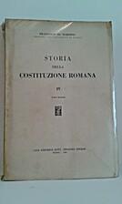 Storia della Costituzione romana - IV -…