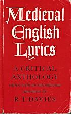 Medieval English Lyrics: A Critical…