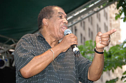 Author photo. Ben E King Performing on the Final Day of the 2006 Summerfest
