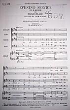 Evening Service in B Minor by Hugh Blair