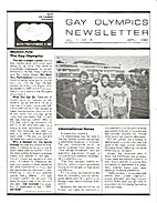 Gay Olympics Newsletter (Issue #5) Women…