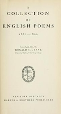 A collection of English poems, 1660-1800 by…