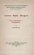 Antonio Badía Margarit: notice biographique…