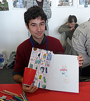 Author photo. French illustrator Florent Chavouet at the 20e Festival international de géographie in Saint-Dié-des-Vosges, 2009
