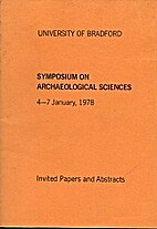 Symposium on Archaeological Sciences, 4-7…