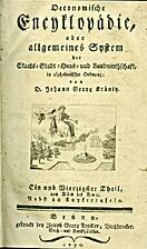 Oeconomische Encyklopädie, oder allgemeines…