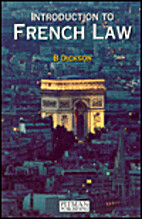 Introduction to French Law by Brice Dickson