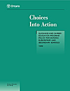 Choices into action : guidance and career…