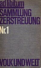 Ad libitum Nr. 1