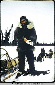 Author photo. Sidney Huntington on the trapline, 1958. Alaska State Library - Historical Collection.