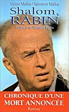 Shalom Rabin by Victor Malka