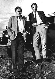 Author photo. Wilfred Thessinger (on Right) with Gavin Young