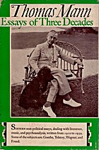 Thomas Mann Essays of Three Decades