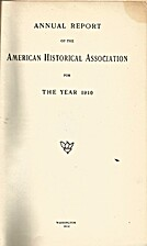 Annual Report of the American Historical…