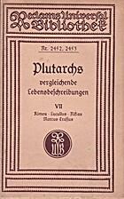 Plutarchs vergleichende Lebensbeschreibungen…