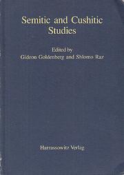 Semitic and Cushitic Studies de Gideon…
