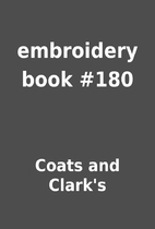 embroidery book #180 by Coats and Clark's