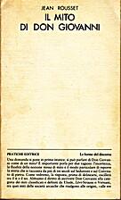 Il mito di Don Giovanni by Jean Rousset