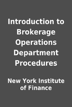 Introduction to Brokerage Operations…