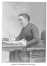 Author photo. Grace Atkinson Oliver (b.1844), Buffalo Electrotype and Engraving Co., Buffalo, N.Y.