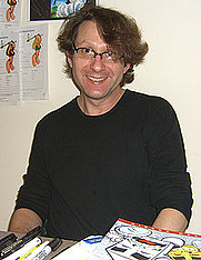 Author photo. Dorkin at the Big Apple Con, November 14, 2008.