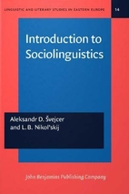 Introduction to sociolinguistics by A. D.…