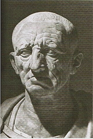 Author photo. The Patrician Torlonia bust, believed to be of Marcus Porcius Cato (the elder)