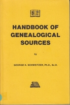 Handbook of Genealogical Sources by George…