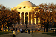 Author photo. Sunset, West Building, National Gallery of Art, Washington, DC.  Photo by user Brian Finifter / Flickr.