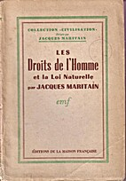 The Rights of Man and Natural Law by Jacques…