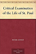Critical Examination of the Life of St. Paul…