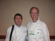 Author photo. Chef John Metcalfe and Author, Chef Wayne Gisslen