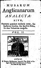 Musarum Anglicanarum Analecta: Sive,…