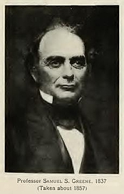 Author photo. Samuel S. Greene. Portrait on page 117 of Memories of Brown; traditions and recollections gathered from many sources (1909)
