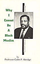 Why I cannot be a Black Muslim by Colin P…