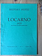 Locarno 1925: The Treaty, the Spirit and the…