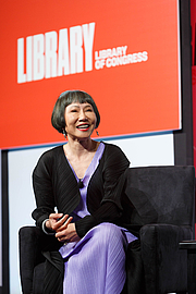 "Author photo. Amy Tan speaks with National Book Festival Literary Director Marie Arana on the Main Stage, September 1, 2018. Photo by Shawn Miller/Library of Congress. By Library of Congress Life - 20180901SM1138.jpg, CC0, <a href=""https://commons.wikimedia.org/w/index.php?curid=83102549"" rel=""nofollow"" target=""_top"">https://commons.wikimedia.org/w/index.php?curid=83102549</a>"
