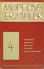 Moderne Erzähler 4 by Paul Dormagen